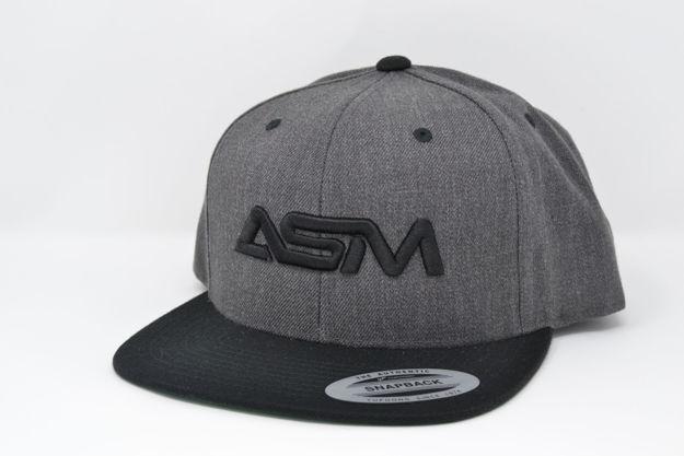 ASM Flat brimmed hat - Gray with black logo