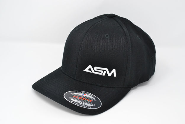 Picture of ASM Fitted Cap - Black w/White Logo